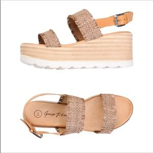 Italian platform sandals, George J Love